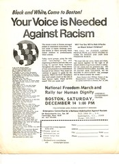 March against white supremacy in Boston: 1974
