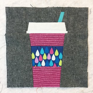 Paper pieced coffee cup block
