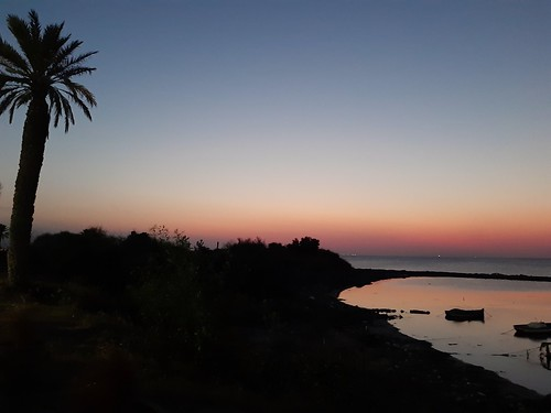 nature tunisia sunset shore monastir photography