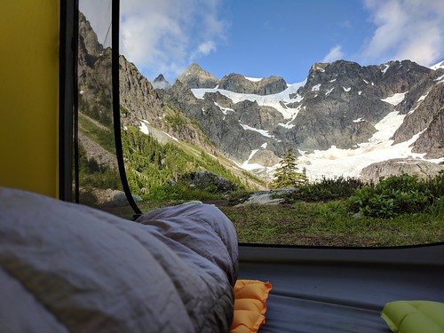 Lake Ann camp with views of Mount Shuksan | by angelatravels11