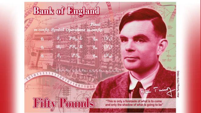 Alan Turing banknote design