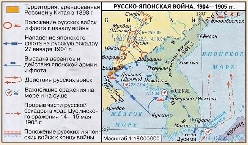 Карта Русско-японская война