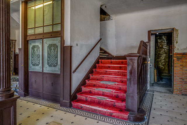 Goldfield Hotel Lobby Stairs