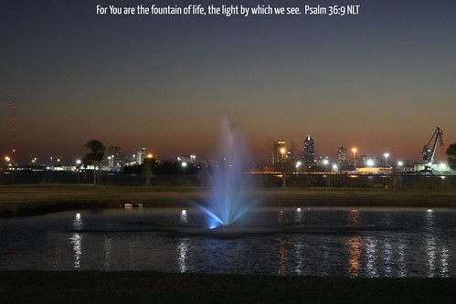 jacksonville jax florida fl fla jacksonvilleuniversity university ju college campus fountain illuminated light blue water pond duvalcounty duval city skyline cityscape landscape tallyrand arlington stjohnsriver saintjohnsriver river downtown port centralbusinessdistrict skyscrapers crane lights night dusk evening cityatnight towers buildings reflections sky riverfront flickr urban us usa unitedstates america jesus christ god bible scripture verse christianity sunset