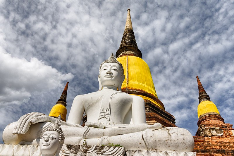 At Wat Yai Chai Mongkhol, Ayutthaya, Thailand.