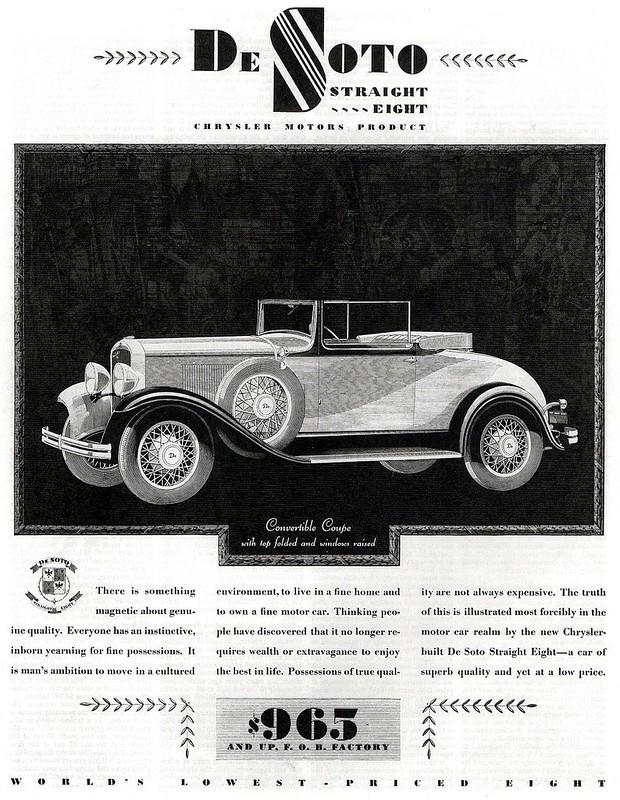1930 De Soto Straight Eight Convertible Coupe