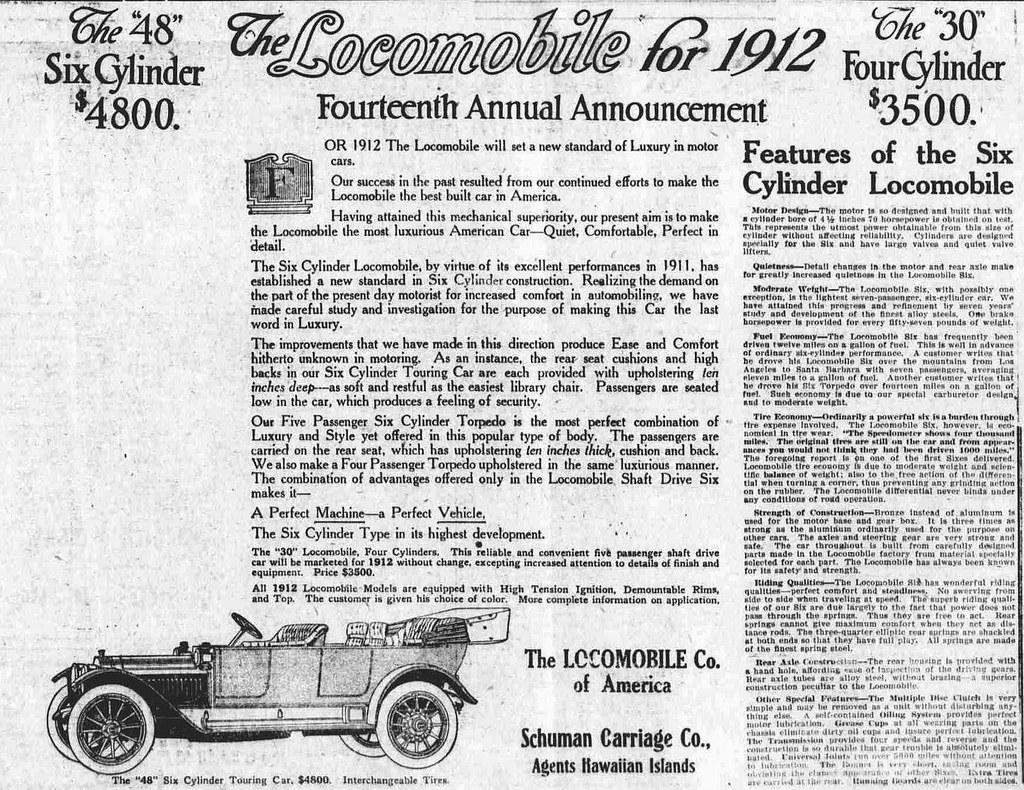 "1912 Locomobile ""48"" Six Cylinder"