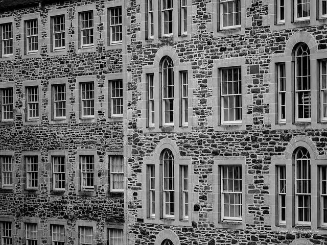 Windows, New Lanark Mill Hotel