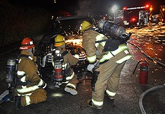 LAFD Douses SUV Fire in Sun Valley
