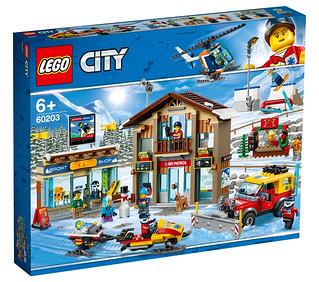 炎炎夏日的好去處! LEGO 60203 城市系列【滑雪渡假村】Ski Resort