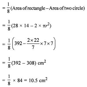 ICSE Understanding Mathematics Class 7 ML Aggarwal Solutions Chapter 16 Perimeter and Area Objective Type Questions HOTS 2.2
