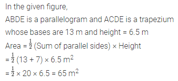 APC Maths Class 7 ML Aggarwal Solutions Chapter 16 Perimeter and Area Objective Type Questions HOTS 1.1