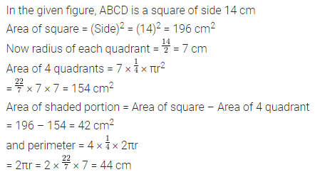 APC Maths Class 7 ML Aggarwal Solutions Chapter 16 Perimeter and Area Objective Type Questions HOTS 3.1
