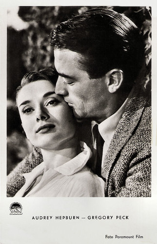 Audrey Hepburn and Gregory Peck in Roman Holiday (1952)