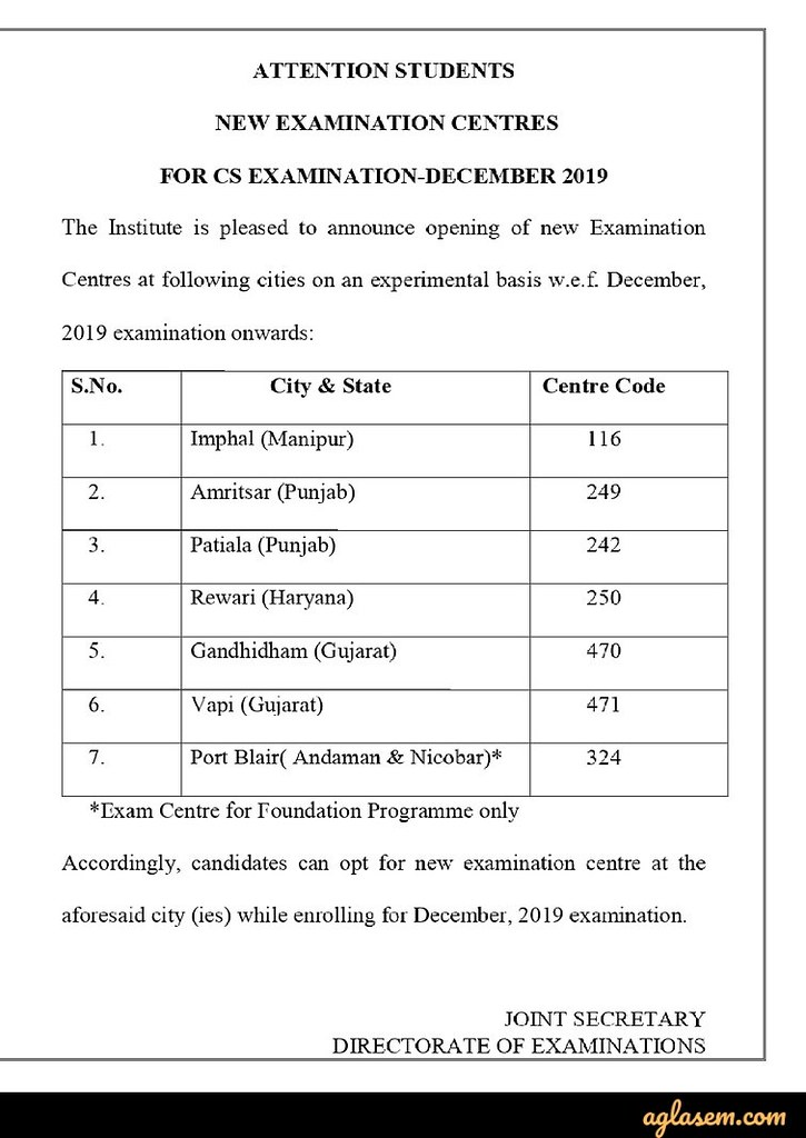 CS Executive June 2019 - Result, Dec 2019 Timetable