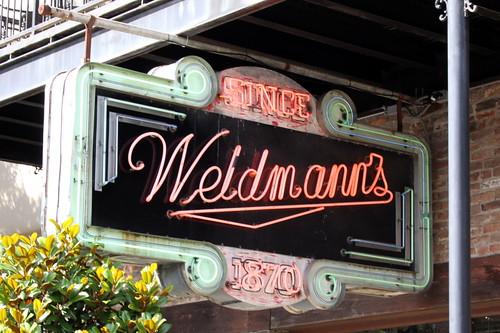 Weidmann's neon sign - Meridian, MS