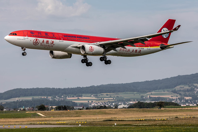 ZRH/LSZH: Sichuan Airlines / Airbus A330-343 / B-5929