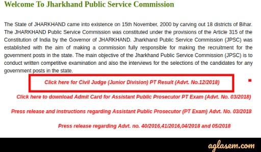 JPSC Civil Judge Result