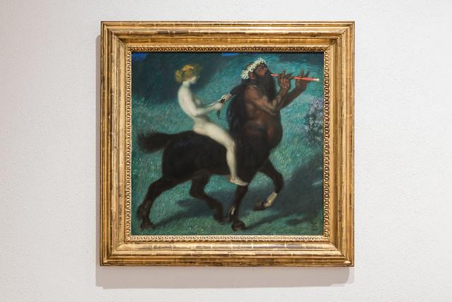 Franz von Stuck, Kentauren-Ritt - Riding a Centaur