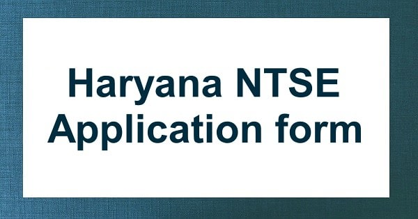 haryana ntse application form