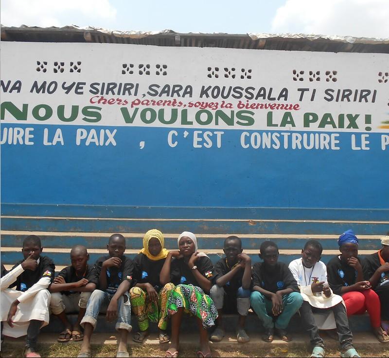 Cartel por la paz en Bangui