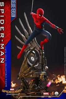 可以組成更加帥氣的場景地台! Hot Toys – QS015/ QS015B《蜘蛛人:返校日》蜘蛛人 (豪華版) Spider-Man (Deluxe Version) 1/4 比例人偶作品