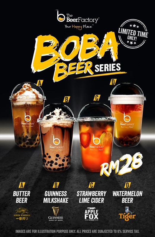 the beer factory boba drinks