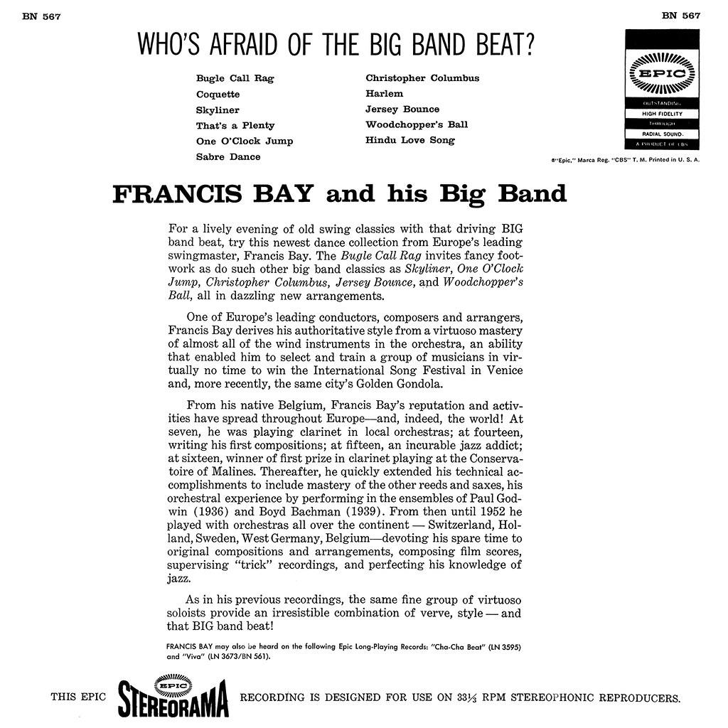 Francis Bay - Who's Afraid of the Big Band Beat
