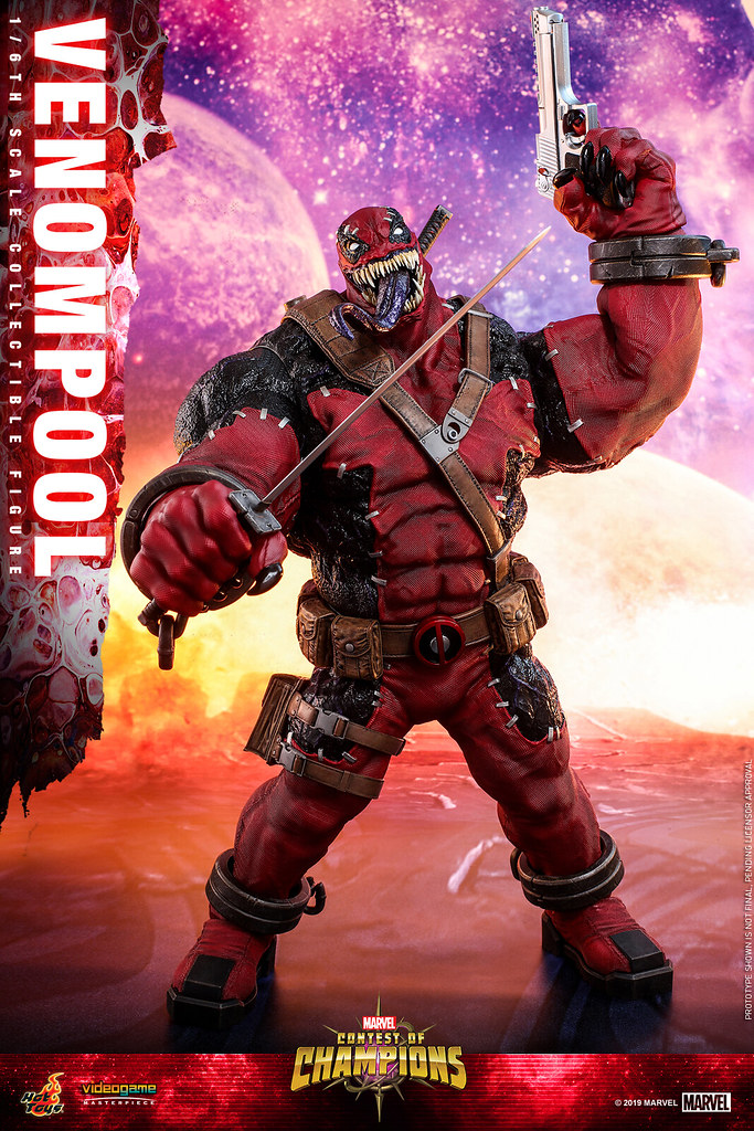 巨大、瘋狂、暴亂!猛毒侍來襲!! Hot Toys – VGM35/VGM35B -《MARVEL 超級爭霸戰》猛毒侍 Venompool 1/6 比例人偶作品