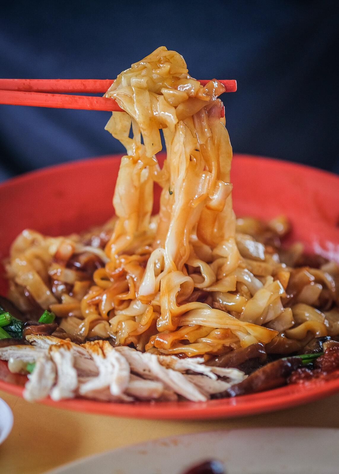 Happy Roast World Shredded Chicken Hor Fun with Chopsticks