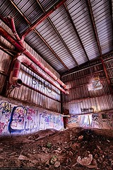 Urbex Rout Lëns / Terres Rouges - Hall