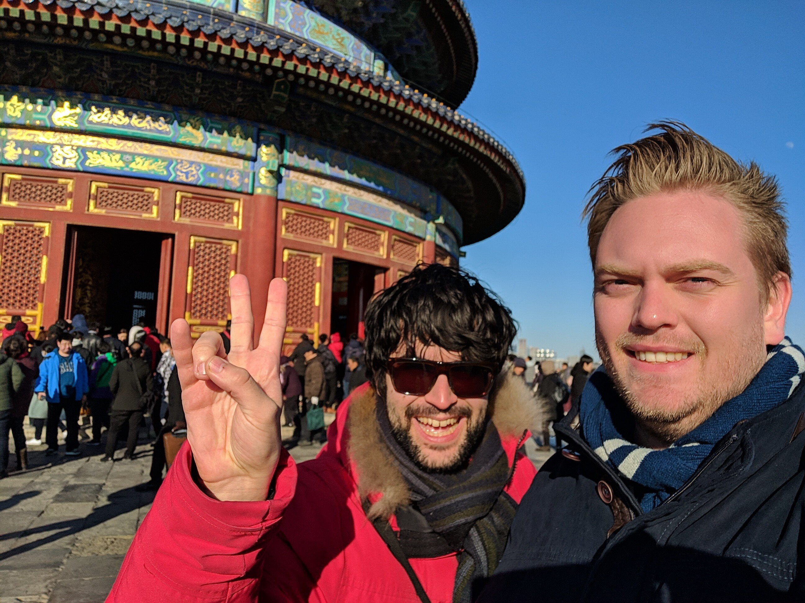 Guillermo and Thomas at Temple of Heaven