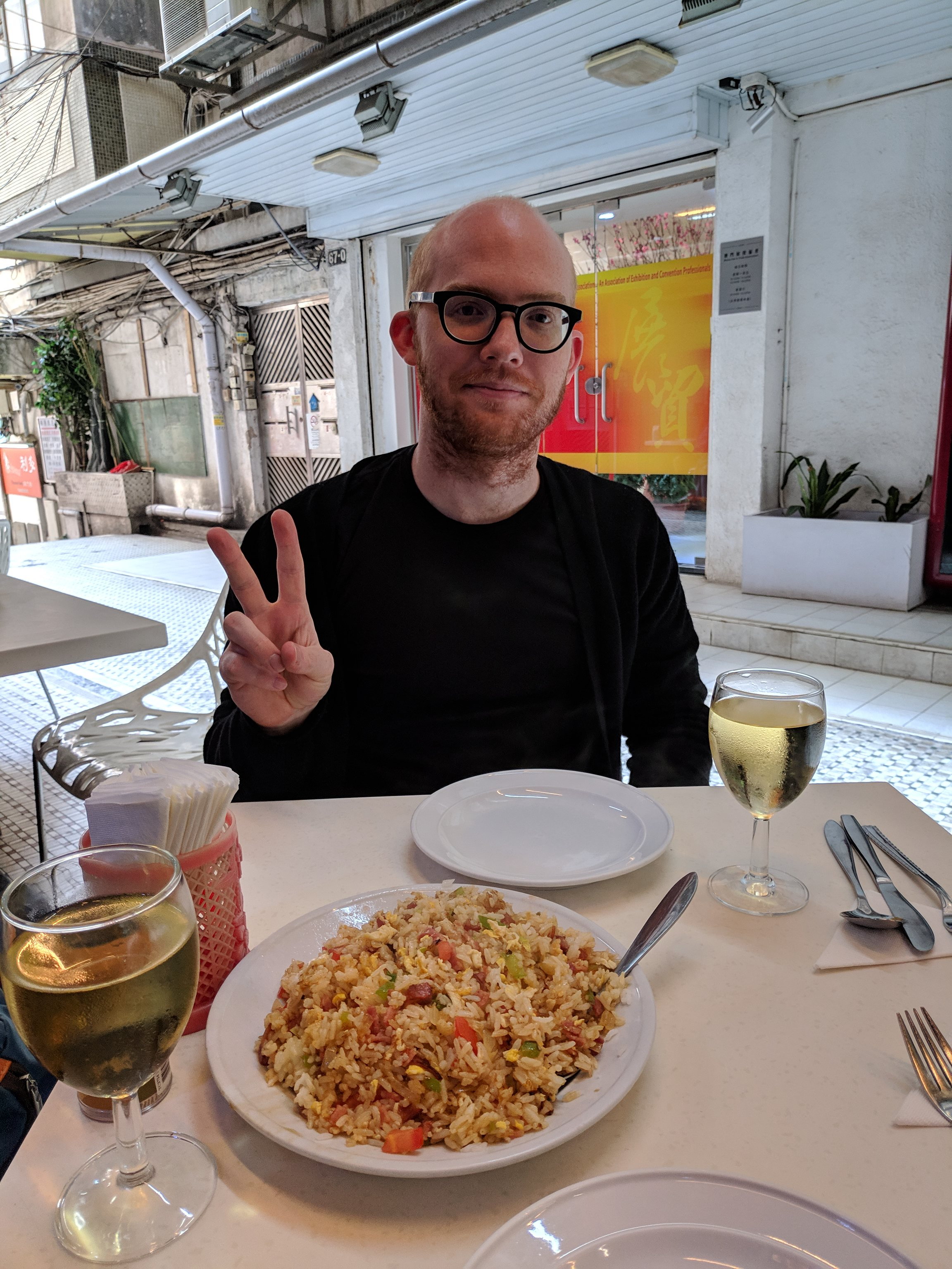 Arthur and food in Macau