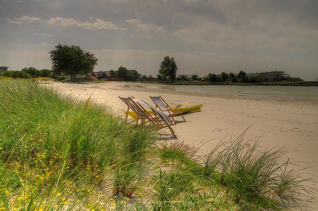 Liegestuhl Makkum Strand Ijsselmeer