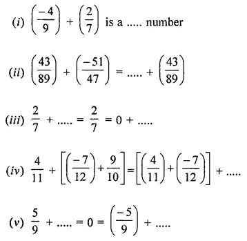 ML Aggarwal Class 8 Solutions for ICSE Maths Chapter 1 Rational Numbers Ex 1.1 Q7