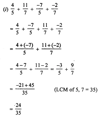 Maths Questions for Class 8 ICSE With Answers Chapter 1 Rational Numbers Ex 1.1 Q6.1