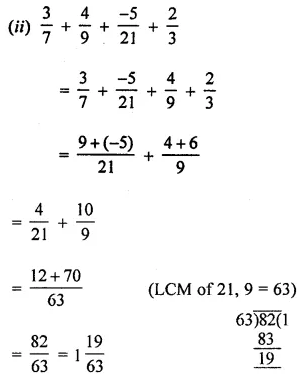 ML Aggarwal Class 8 Solutions for ICSE Maths Chapter 1 Rational Numbers Ex 1.1 Q6.2