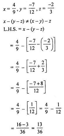 ML Aggarwal Class 8 Solutions Chapter 1 Rational Numbers Ex 1.2 Q7