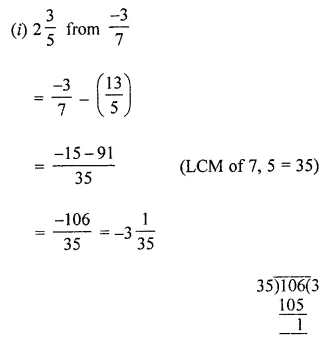 ML Aggarwal Maths for Class 8 Solutions Book Pdf Chapter 1 Rational Numbers Ex 1.2 Q1.1