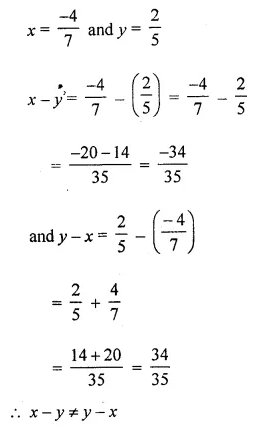 ML Aggarwal Class 8 Solutions for ICSE Maths Chapter 1 Rational Numbers Ex 1.2 Q6