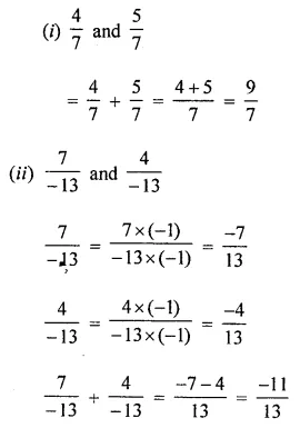 ICSE Understanding Mathematics Class 8 Solutions Chapter 1 Rational Numbers Ex 1.1 Q1.1