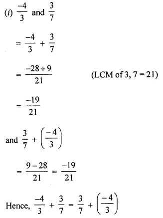 ML Aggarwal Class 8 Solutions for ICSE Maths Chapter 1 Rational Numbers Ex 1.1 Q3.1