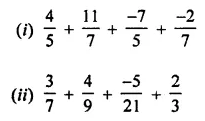 ML Aggarwal Class 8 Solutions for ICSE Maths Chapter 1 Rational Numbers Ex 1.1 Q6