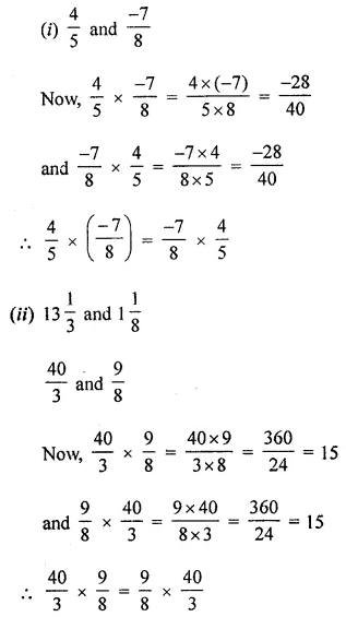 ICSE Class 8 Maths Book Solutions Free Download Pdf Chapter 1 Rational Numbers Ex 1.3 Q2