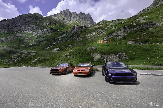 3 Generation of Mustangs - Road to Sustenpass - Bern - Switzerland