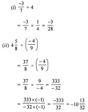 ICSE Class 8 Maths Book Solutions Free Download Pdf Chapter 1 Rational Numbers Ex 1.4 Q1.1