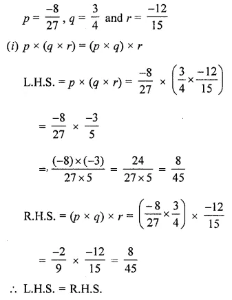 ML Aggarwal Maths for Class 8 Solutions Book Pdf Chapter 1 Rational Numbers Ex 1.3 Q6