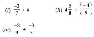 ICSE Understanding Mathematics Class 8 Solutions Chapter 1 Rational Numbers Ex 1.4 Q1