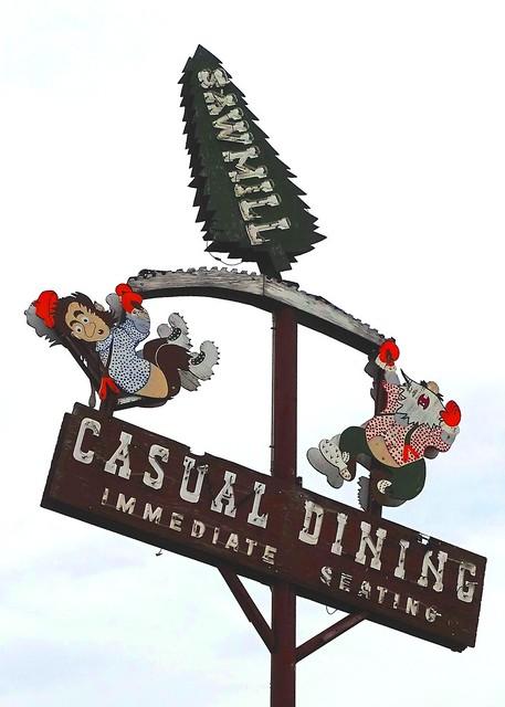 MN, Virginia-U.S. 53 Sawmill Restaurant Neon Sign