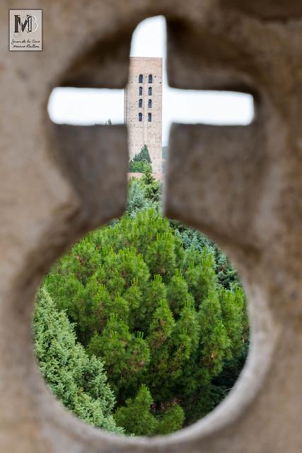 Torre mudéjar de San Nicolás desde el Castillo de Coca